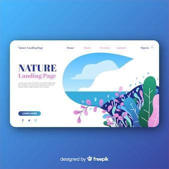 Landing page para webs sobre naturaleza