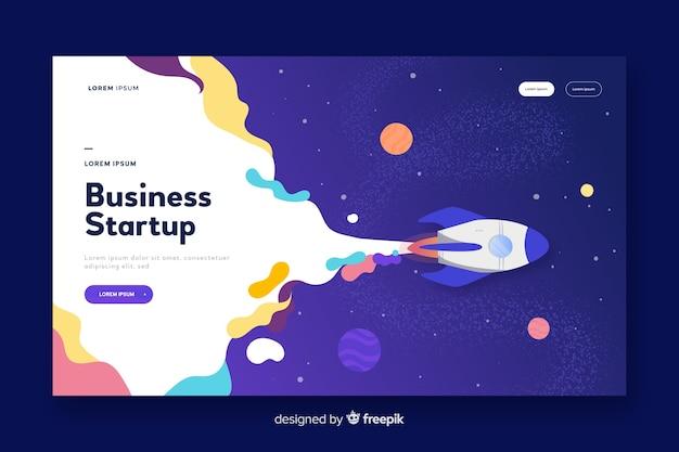 Landing pages de startup