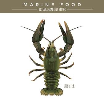 Langosta. comida marina