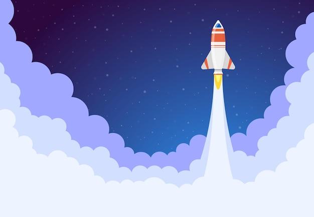 Lanzamiento de cohete espacial