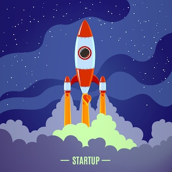 Lanzamiento de cohete de inicio