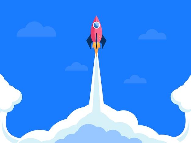Lanzamiento de cohetes de inicio de negocios