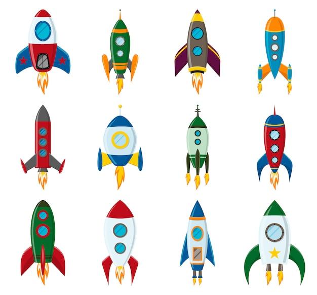 Lanzamiento retro de cohetes espaciales