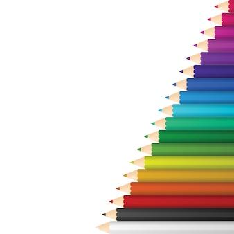 Lápices de colores de la ilustración