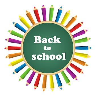 Lápices de colores de regreso a la escuela