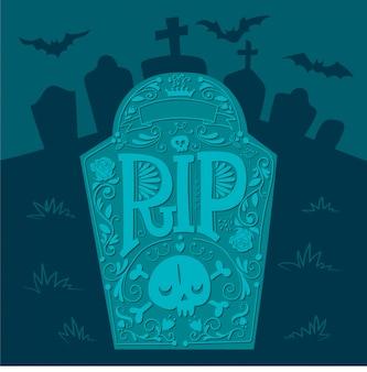Lápida en el cementerio