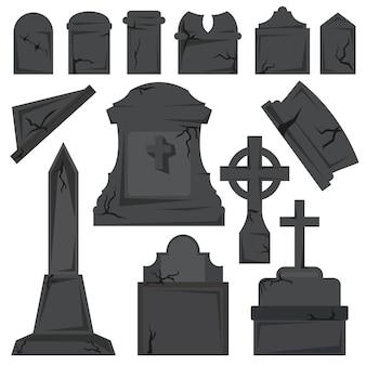 Lápidas en el fondo blanco