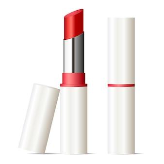 Lápiz labial de moda maqueta conjunto