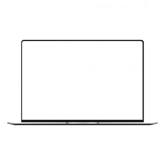 Laptop con pantalla blanca maqueta