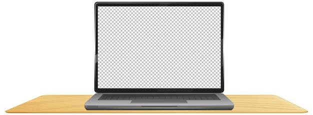 Laptop con pantalla vacía