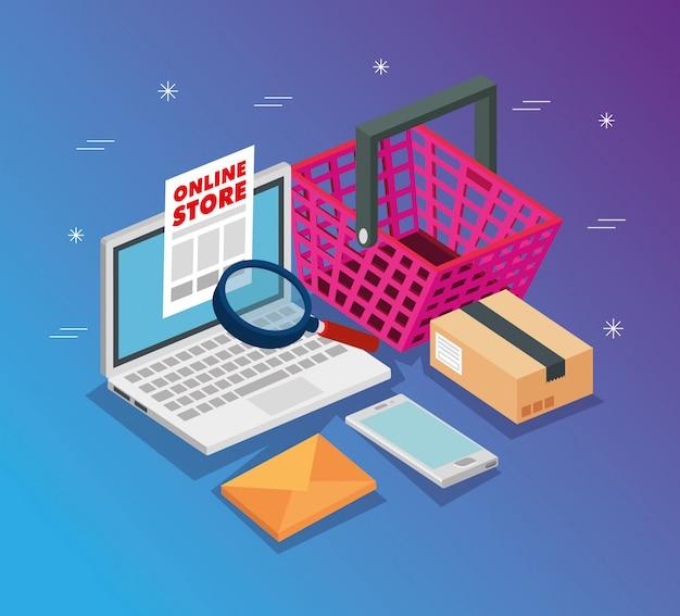 Laptop para tienda online