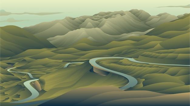 El largo camino en la montaña