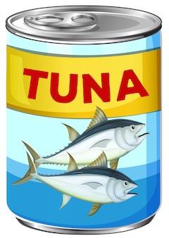 Lata de atún fresco
