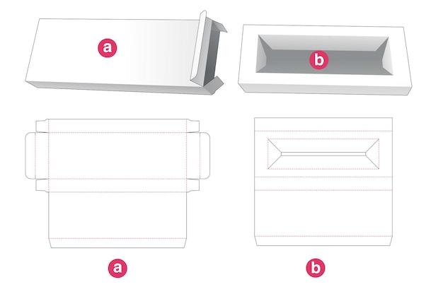 Lata y caja larga con plantilla troquelada de soporte de inserción