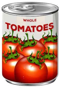 Lata de tomates enteros
