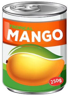 Una lata de jarabe de mango
