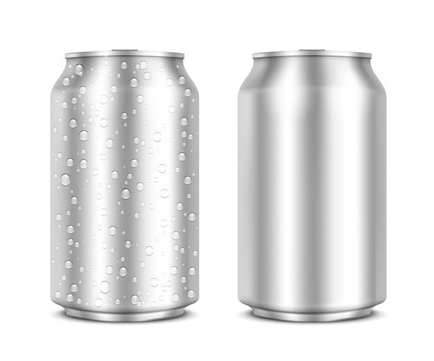 Latas de aluminio aisladas