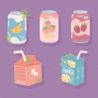 Latas y cajas de refrescos