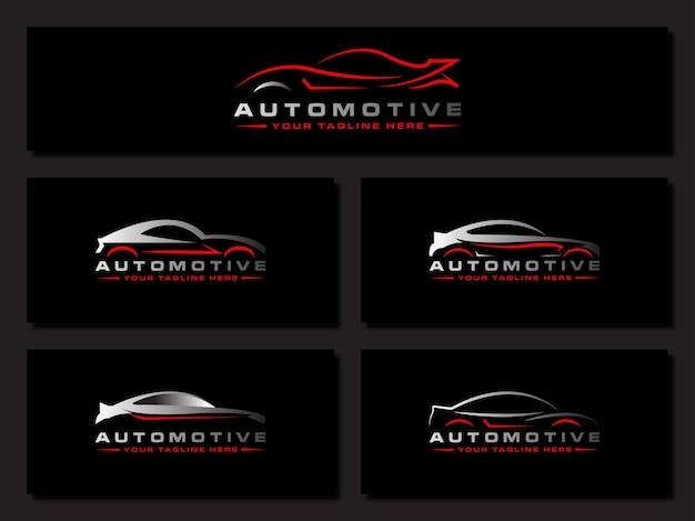 Lavado de autos logo coche automobiler coche de carreras diseño automotriz