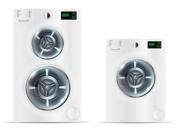Lavadoras blancas de carga frontal