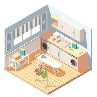 Lavadoras isométricas de lavandería o tintorería