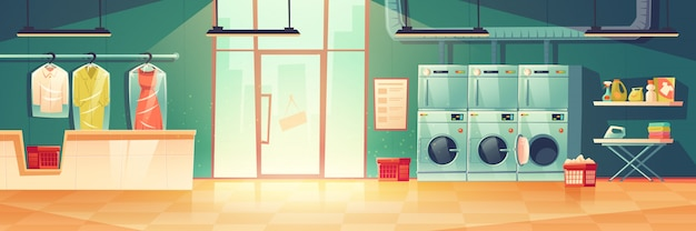 Lavadoras públicas o lavadoras en seco.