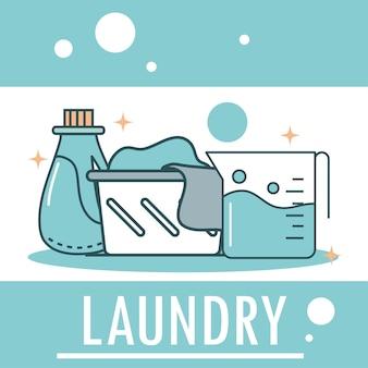 Lavandería y detergente