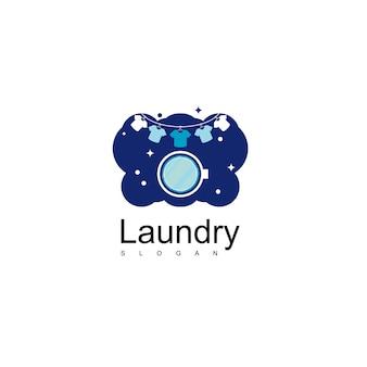 Lavandería logo design vector