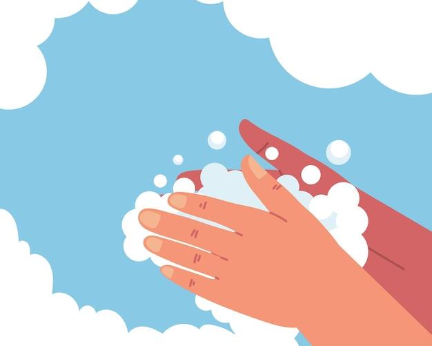 Lavarse las manos con agua y jabón