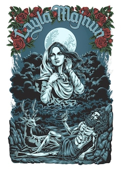 Layla majnun ilustración