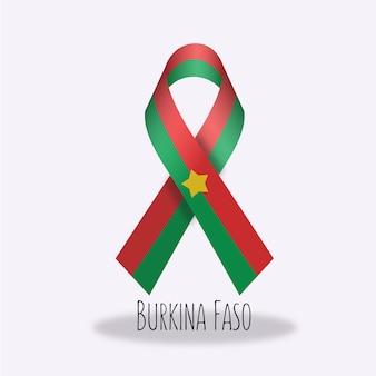 Lazo con diseño de la bandera de burkina faso