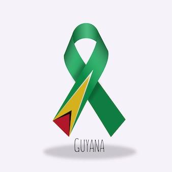Lazo con diseño de la bandera de guayana