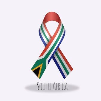 Lazo con diseño de la bandera de sudáfrica
