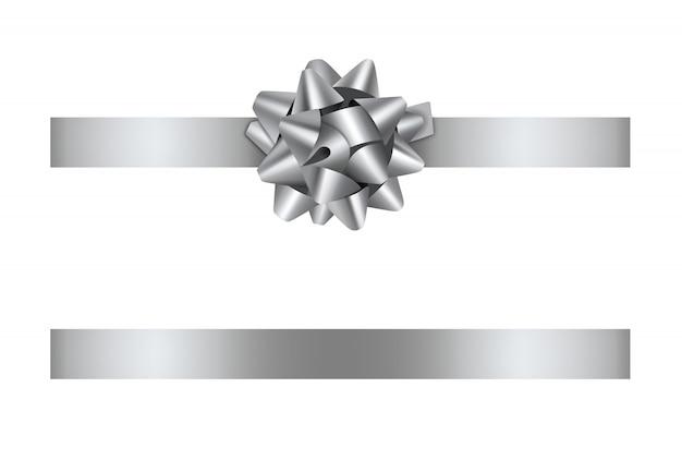Lazo de plata y cinta