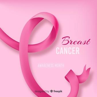 Lazo realista por el cáncer de mama