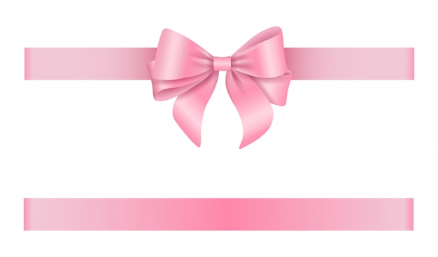 Lazo rosa y cinta