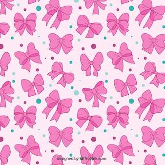 Lazos rosas patrón