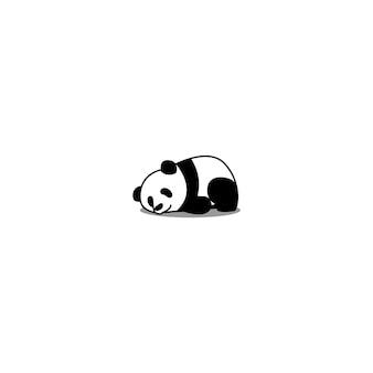 Lazy panda durmiendo vector de dibujos animados