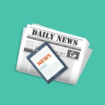 Lea el periódico en su tableta o teléfono inteligente