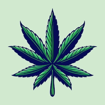 Leaf cannabis colorfull logo ilustraciones