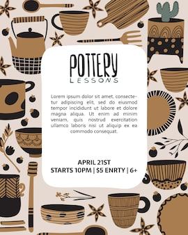 Lecciones de cerámica, plantilla de póster