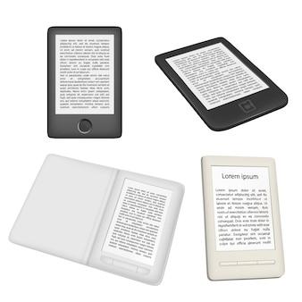 Lector de libros electrónicos o e-reader vector