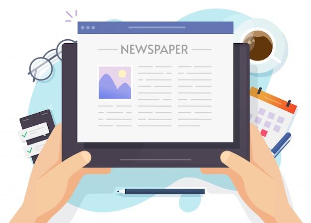 Lectura de noticias en línea en revista