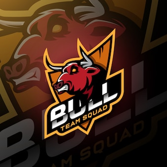 Leer bull head gaming logo esport