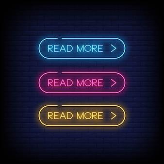 Leer más estilo de letreros de neón