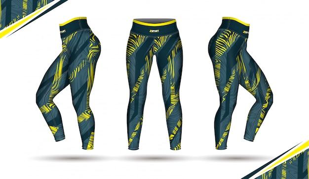 Leggings pantalones entrenamiento moda ilustración