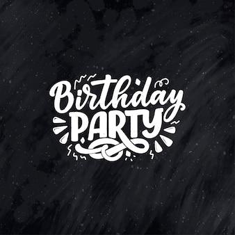 Lema de letras para feliz cumpleaños. frase dibujada a mano