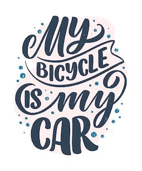 Lema de letras sobre bicicleta