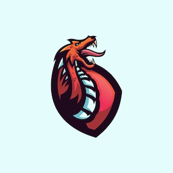 Lema del logo del dragón aquí