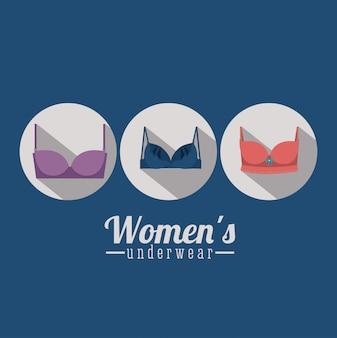 Lencería de mujer, ilustración vectorial